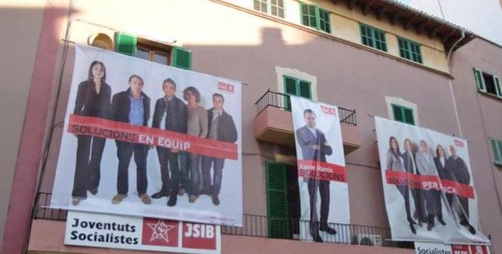 Façana de la sede dels Socialistes d'Inca